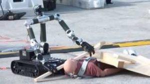 ربات امدادگر مجهز به بازو
