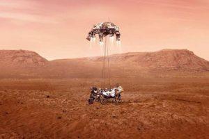 لحظه رها شدن مریخ نورد استقامت